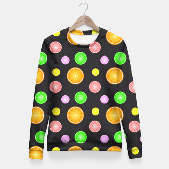 Miniaturka Orange, lemon, lime and grapefruit summer party pattern Fitted Waist Sweater, Live Heroes