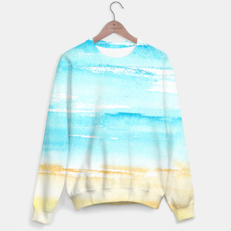 Miniaturka sunny beach || watercolor Sweater, Live Heroes