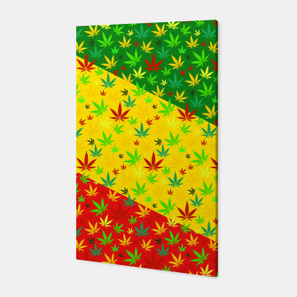 Thumbnail image of Rasta Weed Canvas, Live Heroes