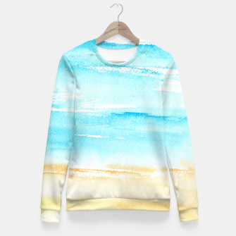Miniaturka sunny beach || watercolor Fitted Waist Sweater, Live Heroes
