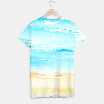 Miniaturka sunny beach || watercolor T-shirt, Live Heroes