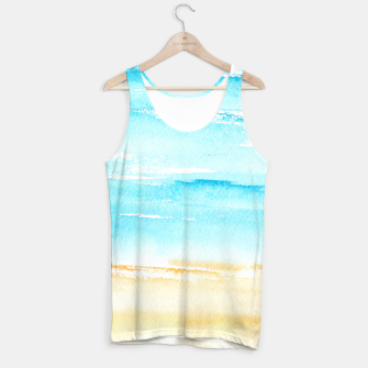 Miniaturka sunny beach || watercolor Tank Top, Live Heroes