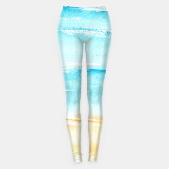 Miniaturka sunny beach || watercolor Leggings, Live Heroes