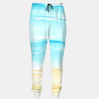 Thumbnail image of sunny beach || watercolor Sweatpants, Live Heroes
