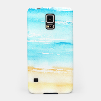 Miniaturka sunny beach || watercolor Samsung Case, Live Heroes