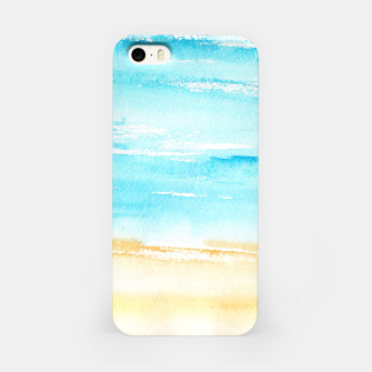 Miniaturka sunny beach || watercolor iPhone Case, Live Heroes