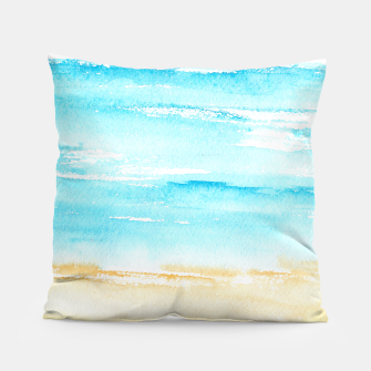Miniaturka sunny beach || watercolor Pillow, Live Heroes