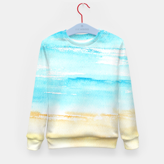 Miniaturka sunny beach || watercolor Kid's Sweater, Live Heroes