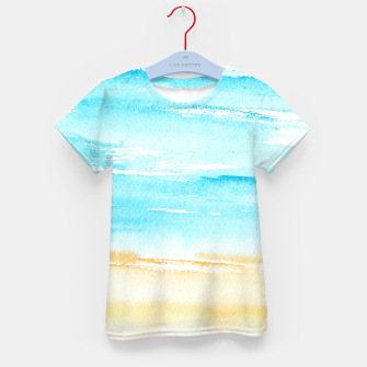 Miniaturka sunny beach || watercolor Kid's T-shirt, Live Heroes