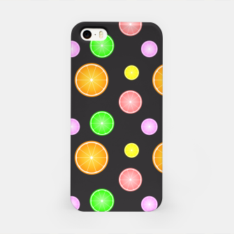Miniaturka Orange, lemon, lime and grapefruit summer party pattern iPhone Case, Live Heroes