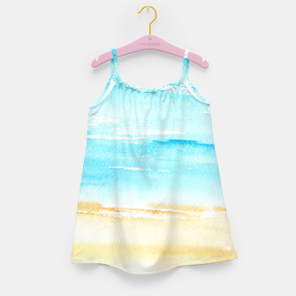 Miniaturka sunny beach || watercolor Girl's Dress, Live Heroes