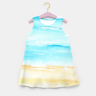Miniaturka sunny beach || watercolor Girl's Summer Dress, Live Heroes
