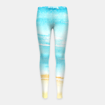 Miniaturka sunny beach || watercolor Girl's Leggings, Live Heroes