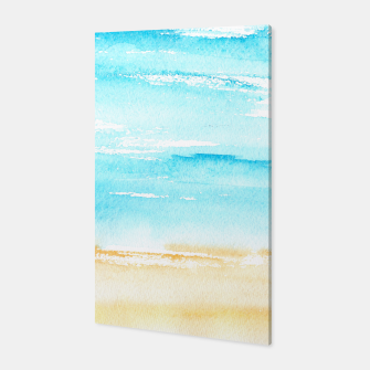 Miniaturka sunny beach || watercolor Canvas, Live Heroes