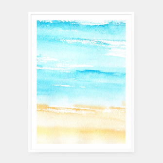 Miniaturka sunny beach || watercolor Framed poster, Live Heroes