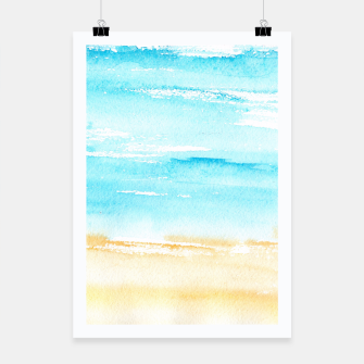 Miniaturka sunny beach || watercolor Poster, Live Heroes