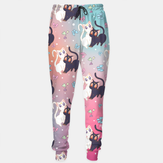 Thumbnail image of Sailor Moon Luna & Artemis  Cute Pattern Sweatpants, Live Heroes