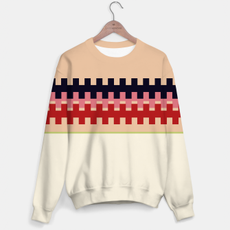 Miniaturka Girls artistic Sweater : Nomadic RED BEIGE, Live Heroes