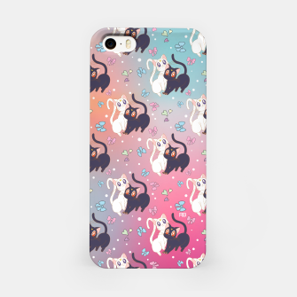 Thumbnail image of Sailor Moon Luna & Artemis  Cute Pattern iPhone Case, Live Heroes