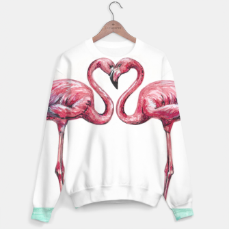 Thumbnail image of Pink flamingos in love Sudadera, Live Heroes