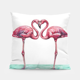 Thumbnail image of Pink flamingos in love Almohada, Live Heroes