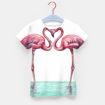 Thumbnail image of Pink flamingos in love Camiseta para niños, Live Heroes