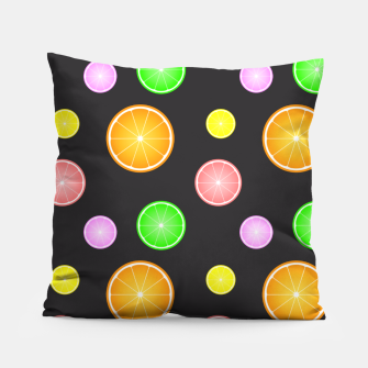 Thumbnail image of Orange, lemon, lime and grapefruit summer party pattern Pillow, Live Heroes