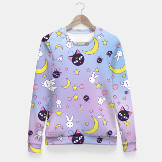 Miniaturka Sailor Moon Luna P pattern Fitted Waist Sweater, Live Heroes