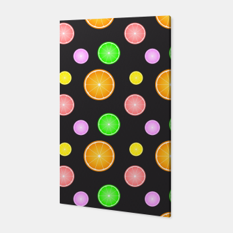 Miniaturka Orange, lemon, lime and grapefruit summer party pattern Canvas, Live Heroes