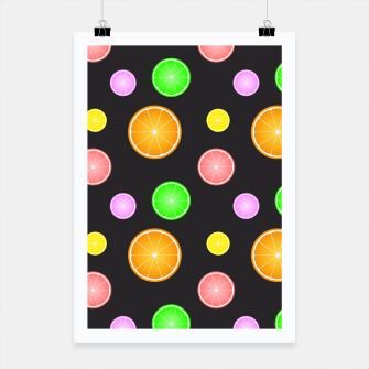 Thumbnail image of Orange, lemon, lime and grapefruit summer party pattern Poster, Live Heroes