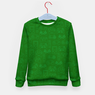 Miniaturka Gamers' Controllers - Avocado Green Kid's Sweater, Live Heroes