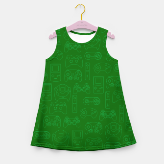 Miniatur Gamers' Controllers - Avocado Green Girl's Summer Dress, Live Heroes