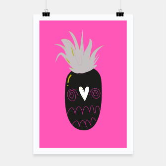 Thumbnail image of LUXURY VINTAGE HANDDRAWN POSTER : ANANAS. Original artwork, Live Heroes
