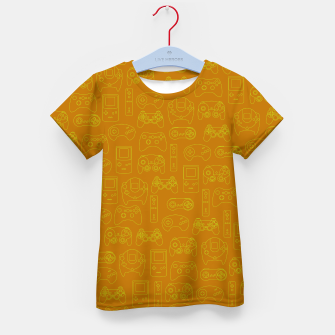 Miniatur Gamers' Controllers - Mustard Yellow Kid's T-shirt, Live Heroes