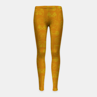 Miniaturka Gamers' Controllers - Mustard Yellow Girl's Leggings, Live Heroes