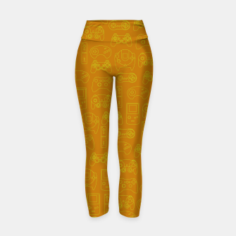 Miniatur Gamers' Controllers - Mustard Yellow Yoga Pants, Live Heroes