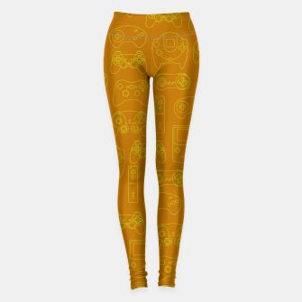 Thumbnail image of Gamers' Controllers - Mustard Yellow Sports Leggings, Live Heroes