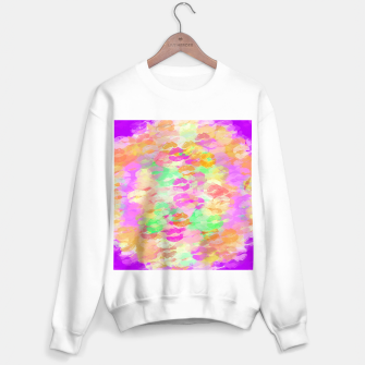 Miniatur sexy kiss lipstick abstract pattern in pink orange yellow green Sweater regular, Live Heroes
