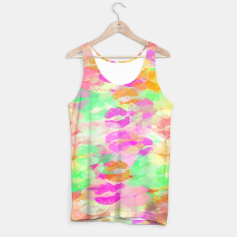 Thumbnail image of sexy kiss lipstick abstract pattern in pink orange yellow green Tank Top, Live Heroes
