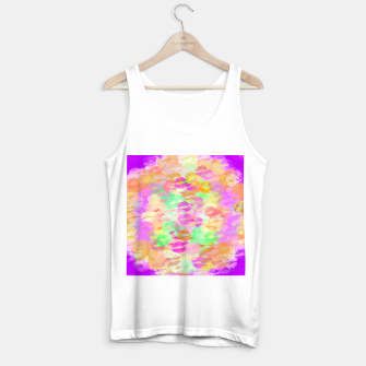 Miniaturka sexy kiss lipstick abstract pattern in pink orange yellow green Tank Top regular, Live Heroes