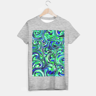 Imagen en miniatura de spiral line drawing abstract pattern in blue and green T-shirt regular, Live Heroes