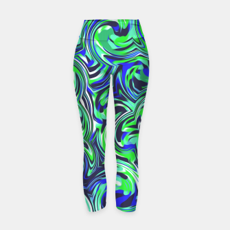 Miniatur spiral line drawing abstract pattern in blue and green Yoga Pants, Live Heroes