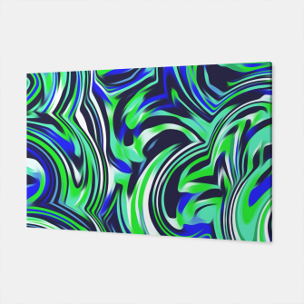 Miniaturka spiral line drawing abstract pattern in blue and green Canvas, Live Heroes