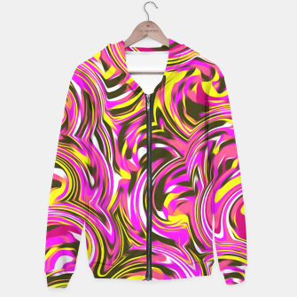Miniature de image de spiral line drawing abstract pattern in pink yellow black Hoodie, Live Heroes