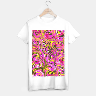 Imagen en miniatura de spiral line drawing abstract pattern in pink yellow black T-shirt regular, Live Heroes