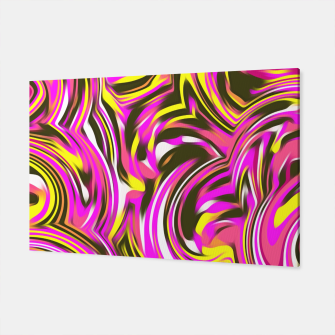 Miniaturka spiral line drawing abstract pattern in pink yellow black Canvas, Live Heroes