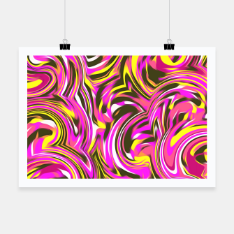 Thumbnail image of spiral line drawing abstract pattern in pink yellow black Poster, Live Heroes