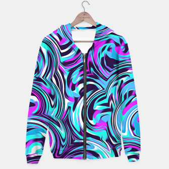 Miniature de image de spiral line drawing abstract pattern in blue pink black Hoodie, Live Heroes