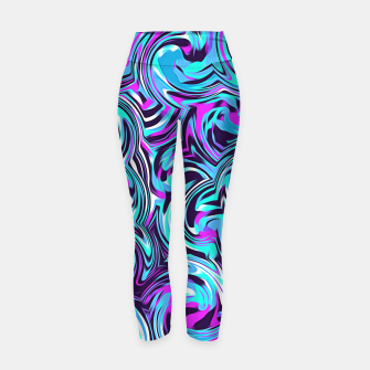 Miniatur spiral line drawing abstract pattern in blue pink black Yoga Pants, Live Heroes