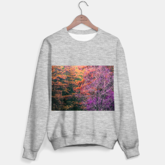 Miniatur autumn tree in the forest in purple and brown Sweater regular, Live Heroes